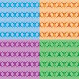 Vier Farbnahtloser geometrischer Hintergrund Lizenzfreie Stockfotos