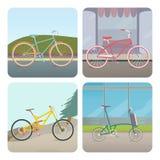 Vier fietsen Stock Afbeelding