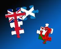 Vier figuurzagen van de landvlag royalty-vrije illustratie