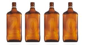 Vier Flaschen Stockfotografie