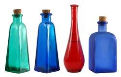 Vier flessen Stock Fotografie