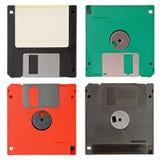 Vier floppy disks Royalty-vrije Stock Afbeeldingen