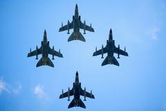 Vier Flugzeuge lizenzfreie stockfotos