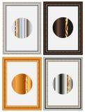 Vier fotoframe Royalty-vrije Stock Foto's