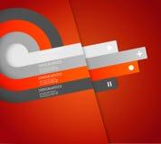 Vier färbten Streifen mit Platz für Ihren eigenen Text Stockfotos
