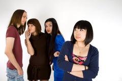 Vier Freunde Stockbild