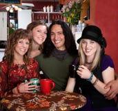 Vier Freunde lizenzfreie stockfotos
