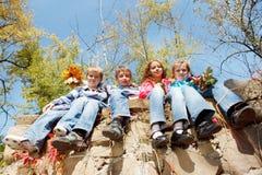 Vier Freunde Lizenzfreie Stockbilder