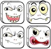 Vier furchtsame Monster Lizenzfreie Stockfotos
