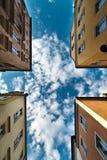 Vier gebouwen Royalty-vrije Stock Afbeelding