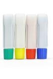 Vier Gefäße der Farbenlacke Stockbild