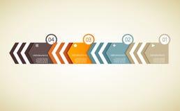 Vier gekleurde document driehoeken met plaats voor uw eigen tekst Royalty-vrije Stock Foto