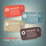 Vier gekleurde document kaarten met plaats Royalty-vrije Stock Afbeelding