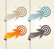 Vier gekleurde document pijlen stock illustratie