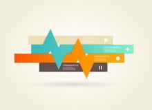 Vier gekleurde strepen met plaats voor uw eigen tekst. Royalty-vrije Stock Foto