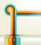 Vier gekleurde strepen met plaats voor uw eigen tekst Stock Afbeeldingen