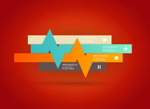 Vier gekleurde strepen met plaats voor uw eigen tekst Stock Fotografie