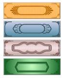 Vier gekleurde Webbanner Royalty-vrije Stock Afbeeldingen