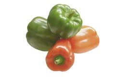 Vier Gemüsepaprikas Stockfotos