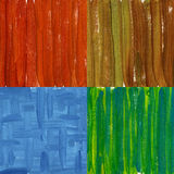Vier gemalte Auszüge gemalt auf Segeltuch Lizenzfreies Stockbild