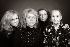Vier generaties van vrouwen in een familie Royalty-vrije Stock Fotografie
