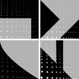 Vier geometrische achtergronden vector illustratie