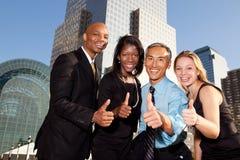 Vier Geschäftsleute Stockbild