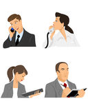Vier Geschäftsmänner im Büro vektor abbildung