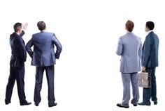 Vier Geschäftsmann von der Rückseite Lizenzfreie Stockbilder