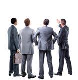 Vier Geschäftsmann von der Rückseite Stockfotografie