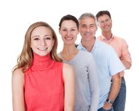 Vier Geschäftspartner in der zufälligen Kleidung Lizenzfreies Stockbild