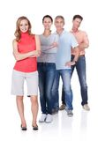 Vier Geschäftspartner in der zufälligen Kleidung Stockfoto