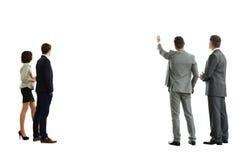 Vier Geschäftsmann von der Rückseite Lizenzfreie Stockfotos