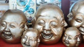 Vier Gesichter Stockfotografie