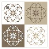 Vier gevariërde ontwerpen als achtergrond Royalty-vrije Stock Fotografie