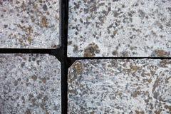 Vier gewapend betonblokken Stock Foto's