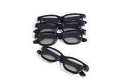 Vier Gläser 3d, übereingestimmt, getrennt auf Weiß Lizenzfreie Stockfotografie