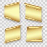 Vier gouden bladen van document royalty-vrije illustratie