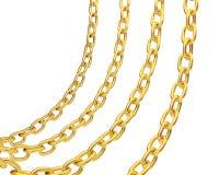 Vier gouden kettingen Royalty-vrije Stock Foto's