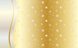 Vier gouden vector als achtergrond Stock Afbeeldingen