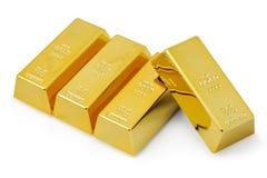 Vier goudstaven Royalty-vrije Stock Afbeelding