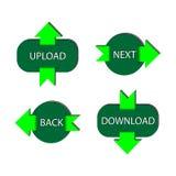 Vier grüne Tasten Stockbild