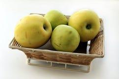 Vier grünes Apple Stockfoto