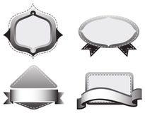 Vier graue Schablonen Stockbild