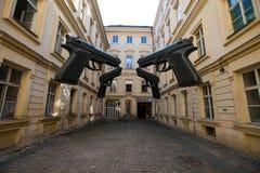 Vier große Gewehre Lizenzfreie Stockbilder
