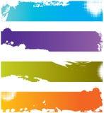 Vier grunge bunte Ränder Lizenzfreies Stockfoto