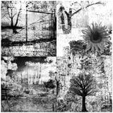 Vier grunge Collage Stockbilder