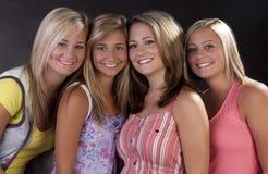 Vier hübsche Frauen Stockbild