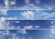 Vier hemelpanoramas (hoogte - kwaliteit) Stock Fotografie