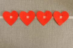 Vier Herzen Lizenzfreie Stockfotografie